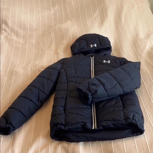 Black youth large under armour jacket
